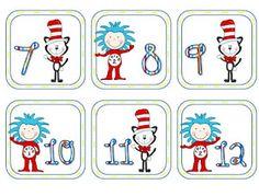 Dr. Seuss calendar cards!