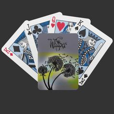 Dandelion Glow Whisper Art Playing Cards from WhisperArt