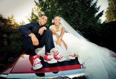 "In Brandon Roy and Tiana Bardwell were walking the halls of Garfield High School in Seattle together. Tiana was Brandon was And Destiny's Child's ""Dangerously in Love"" from the mega-album Survivor was playing on the radio. Brandon Roy, The Tux Shop, Garfield High School, Wedding Planner, Destination Wedding, Dangerous Love, Destiny's Child, Tiana, Cute Shoes"