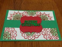 This is a set of Christmas Cards I have made in the last two days using the Delicate Doilies stamp set by Stampin' Up.     Other Stamp...