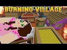 PopularMMOs Minecraft: BURNING VILLAGE! (BUILD TO SURVIVE CHALLENGE!) Mi...