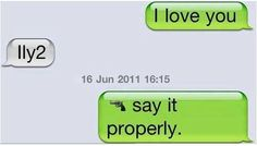 say it properly.