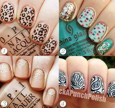 Cool nail art for short nails by PackAPunchPolish nail blog.