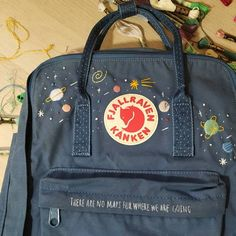 Your place to buy and sell all things handmade Embroidery On Clothes, Simple Embroidery, Japanese Embroidery, Embroidery Art, Embroidery Stitches, Kånken Rucksack, Kanken Backpack, Diy Embroidery Designs, Mochila Kanken
