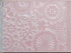 Embossing Folders, a comprensive tutorial guide ~ Machines and sandwiches; Embossing Different Materials; Embossing Plus Color; Partial Embossing; Embossing Long Lengths; Double embossing; & Inking Positive or Negative.
