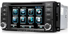 "Astrium® 2007-12 Dodge Nitro In-Dash GPS Navigation DVD CD Stereo Bluetooth 6.5"" Touch Screen AV Receiver Audio Video Player FM AM Radio iPod iPhone-Ready Deck w/ Copyrighted NNG NAVTEQ Maps"