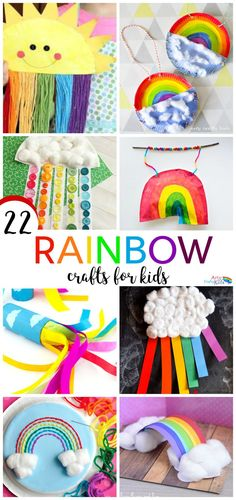 Arty crafty kids craft 22 rainbow kids crafts fun crafts for kids Spring Crafts For Kids, Crafts For Kids To Make, Crafts For Teens, Kids Crafts, Yarn Crafts, Summer Crafts, Decor Crafts, Craft Activities, Preschool Crafts