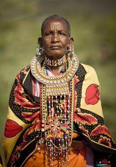 Africa | Elderly Masai woman.  Kenya | ©Simon Winnall