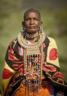 Africa | Elderly Masai woman.  Kenya | ©Simon Winnall