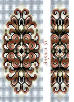 Photo                                                       … Bead Loom Designs, Bead Loom Patterns, Peyote Patterns, Jewelry Patterns, Beading Patterns, Cross Stitch Patterns, Cross Stitches, Native Beadwork, Bead Loom Bracelets