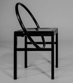A group of students from Helsinki's Aalto University have designed chairs using black-stained solid ash wood
