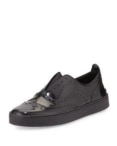 Meli Oxford Slip-On Sneaker, Black by Rag & Bone at Neiman Marcus.