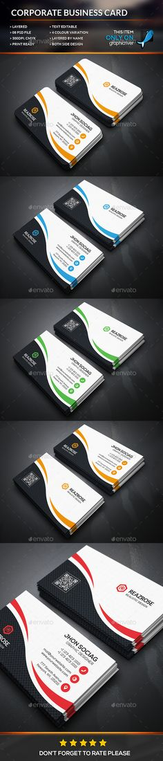 Creative Corporate Business Card Template #design Download: http://graphicriver.net/item/creative-corporate-business-card/12505858?ref=ksioks
