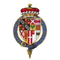 Coat of arms of Sir Anthony Browne (1528-1592), 1st Viscount Montagu