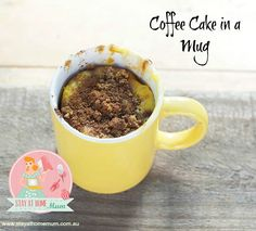 Coffee Cake in a Mug | Stay at Home Mum