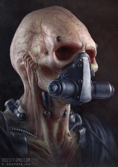 ArtStation - Undead-Biomech, by Marius SiergiejewMore robots here.