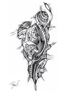Image result for tattoo skizzen biomechanik
