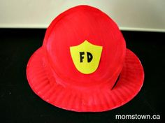 fire truck paper plate art project | momstown arts and crafts Possible play group craft
