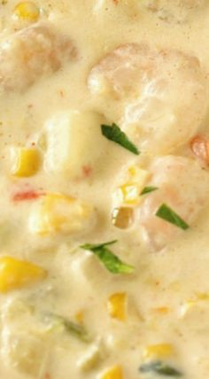 Creamy Shrimp & Corn Soup Used cream of Chicken 1 can Sautéed onion red pepper celery and garlic Used one container of heavy cream Sautéed shrimp in 1 stick of butter. Crab And Corn Bisque, Shrimp And Corn Soup, Crab And Corn Chowder, Shrimp Chowder, Crab Soup, Chowder Soup, Shrimp Bisque, Corn Soup Creamy, Bisque Soup