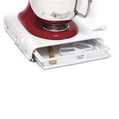 Rolling Kitchen Appl Drwr Wht