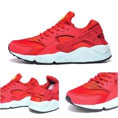 reputable site 56a3f 31b6e Best Modem Huaraches 2016 Latest Running Shoes Male and Female Nike Air  Huarache Red White 36