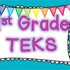 This is a PDF file of all the Math, Reading/ELA, Science and Social Studies TEKS for 1st grader teachers in Texas. It is in a table format so you c...