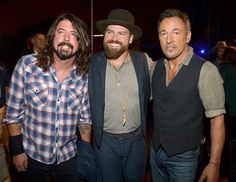 Dave Grohl, Zac Brown and Bruce Springsteen at the concert for Valor