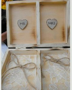 Mr Mrs ring bearer box