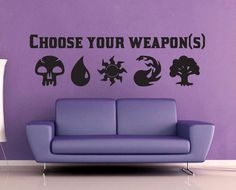 Choose Your Weapon(s) - Magic the Gathering - Wall Vinyl - Extra Large on Etsy, $28.95