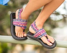 Today's featured shoe is the Yoga Sling 2 Print in Magenta/Multi Tribal Stripe by Sanuk. This comfortably cute sandal is perfect for everyday wear and travel. These stylish shoes will bring you complements all day. Yoga Sandals, Sanuk Sandals, Yoga Shoes, Sanuk Shoes, Sandals Outfit, Cute Sandals, Cute Shoes, Women's Shoes Sandals, Me Too Shoes