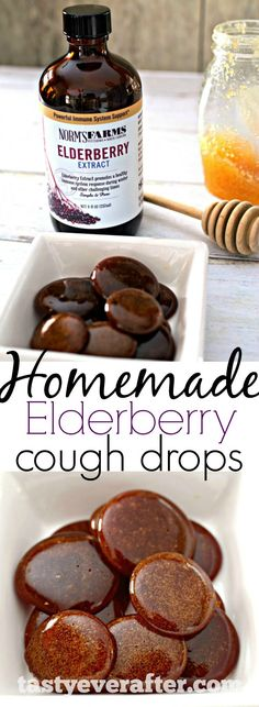 Homemade immune boosting, all-natural cough drops made with just 3 ingredients and in less than 20 minutes! Made with @normsfarms Elderberry Extract. (Minutes Made)
