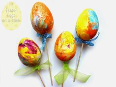 DIY Easter Eggs on a Stick!!!