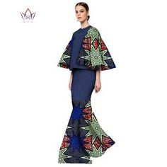 Image of African Print Two Piece Set for Women 2019 Fashion Dashiki Three Quarter Sleeve African Clothes Crop Top And Skirt Set African Tops For Women, African Dresses For Women, African Fashion Dresses, African Clothes, Women Sleeve, Traditional Outfits, Skirt Set, Dashiki, Quarter Sleeve