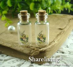 4pcs 35x16mm Handmade Clear Glass Photo Wishing by shareliving, $3.20