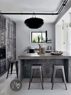 French Modern Rustic kitchens - Greys