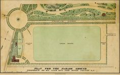 Parade Ground, Prospect Park, Brooklyn, NY, 1860, des. by Calvert Vaux and Frederick Law Olmstead.