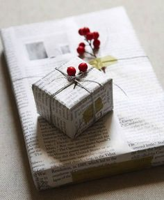 upcycling recylcage emballage cadeau noël écolo écologique éco-responsable journal