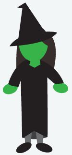DIY Halloween Costume: Witch - Paint your hands and face green. For the hat, go to Wal-Mart or the Dollar Store and pick up a child's witch hat. There usually come with a chin strap so even if they don't fit perfectly the strap will hold it on! And children's sizes are always cheaper. Then throw on a black pea coat buttoned all the way up and grab a broom from the utility closet to finish off this classic.