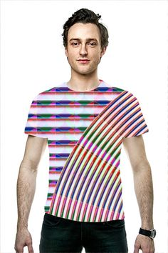 CHAKRA Wheel Rainbow Graphic Fashion Couture Lines Tee Shirts, Tees, Couture Fashion, Chakra, Rainbow, Clothing, Mens Tops, Shopping, T Shirts