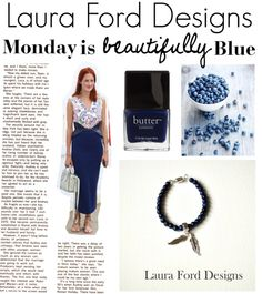"""Monday is beautifully blue in LFD"" by laura-ford-designs on Polyvore"