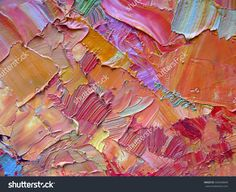 Colorful abstract  background. Oil painting texture. Palette knife & brush. Can be used  for web design, art print, textured fonts, figures, shapes, etc.