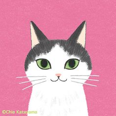 Cats works - Chie Katayama Illustration Cat Phone Wallpaper, Dog Illustration, Magic Art, White Cats, Winter Art, Dog Art, Art Inspo, Canvas Art, Drawings
