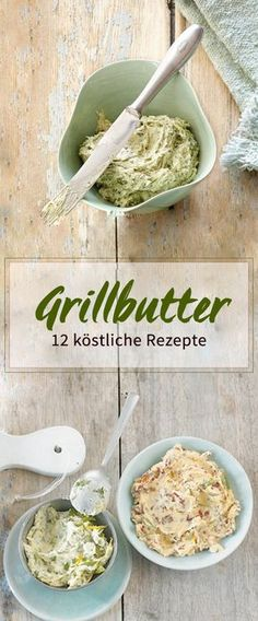 Ob mit Rosmarin, Tomate oder Chili: Kräuterbutter gehört auf jeden Grillteller… Sponsored Sponsored Whether with rosemary, tomato or chili: herb butter belongs on every grill plate. Crock Pot Recipes, Chicken Recipes, Barbecue Recipes, Grilling Recipes, Grill Party, Bbq Grill, Tasty, Yummy Food, Herb Butter