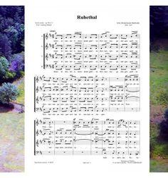 Félix MENDELSSOHN : Ruhetal - mélodie pour choeur à 4 voix mixtes publiée aux Editions Musiques en Flandres - référence MeF 810