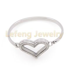 Locket Bracelet, Bangle Bracelets, Bangles, Best Friend Birthday, 316l Stainless Steel, Heart Shapes, Heart Ring, Jewelry Accessories, Crystals