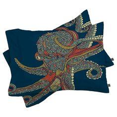 Valentina Ramos Octopus Pillow Sham Blue - DENY Designs® : Target