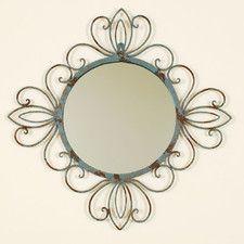 Fashionable Verdegris Wall Mirror