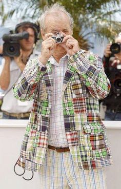 Bill Murray Cannes - can't beat his clothes sense, nosiree