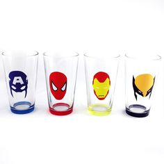 Superheroes Shot glasses