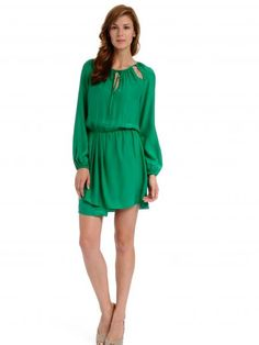 Emerald & bell sleeves